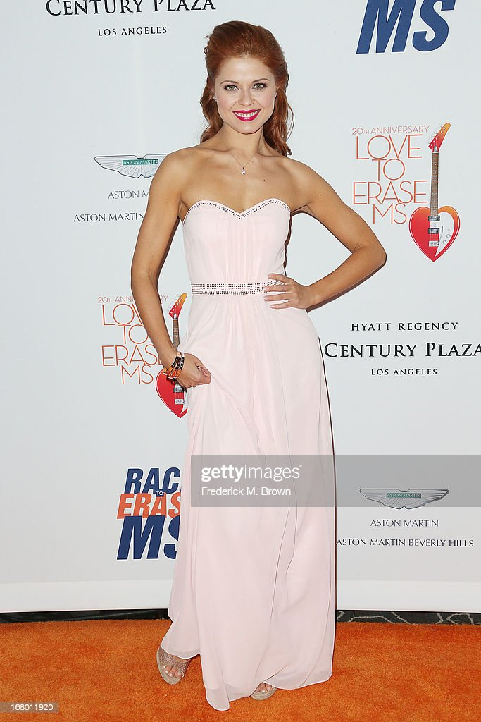 Dancer Anna Trebunskaya attends the 20th Annual Race to Erase MS Gala 'Love to Erase MS' at the Hyatt Regency Century Plaza on May 3, 2013 in Century City, California.