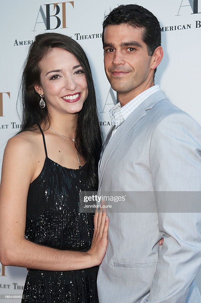 Dancer April Giangeruso and Nathaniel Riley arrives at the American Ballet Theatre's Annual Fundraiser 'Stars Under the Stars: An Evening in Los Angeles' at private residence on September 12, 2013 in Beverly Hills, California.