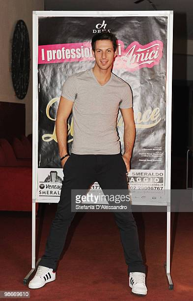 Dancer Arduino Bertoncello attends 'Let's Dance' Photocall held at Teatro Smeraldo on April 26 2010 in Milan Italy