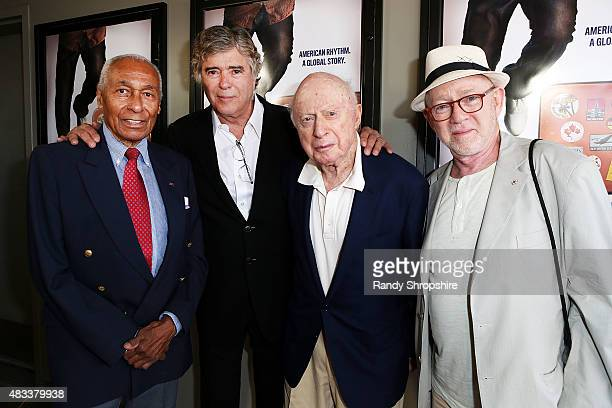 Dancer Arthur Duncan director Dean Hargrove actor Norman LLoyd and cinematographer Stephen Poster attend the screening of 'Tap World' at Nuart...