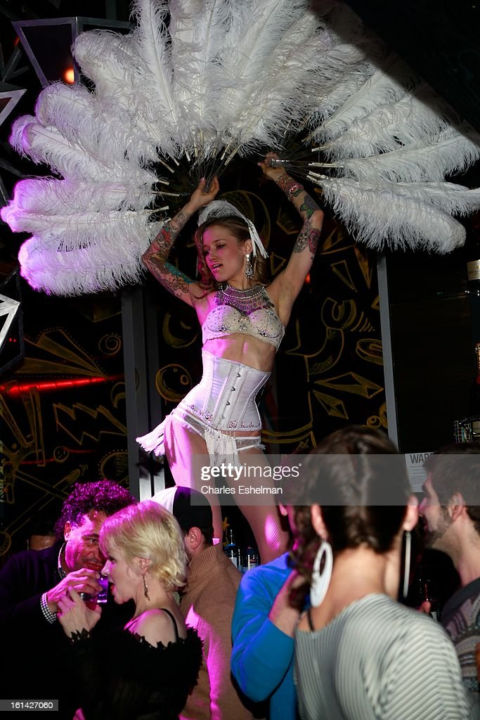 Dancer at the T @ Toy Party on February 10, 2013 in New York City.