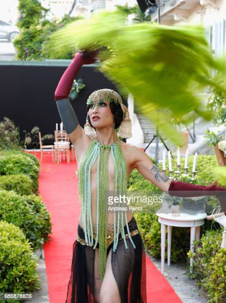 Dancer attends the Artists for Peace and Justice cocktail event celebrating the 70th Annual Cannes Film Festival presented on the Lemon Lemon Terrace...