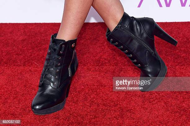 Dancer Ava Cota shoe detail attends the People's Choice Awards 2017 at Microsoft Theater on January 18 2017 in Los Angeles California