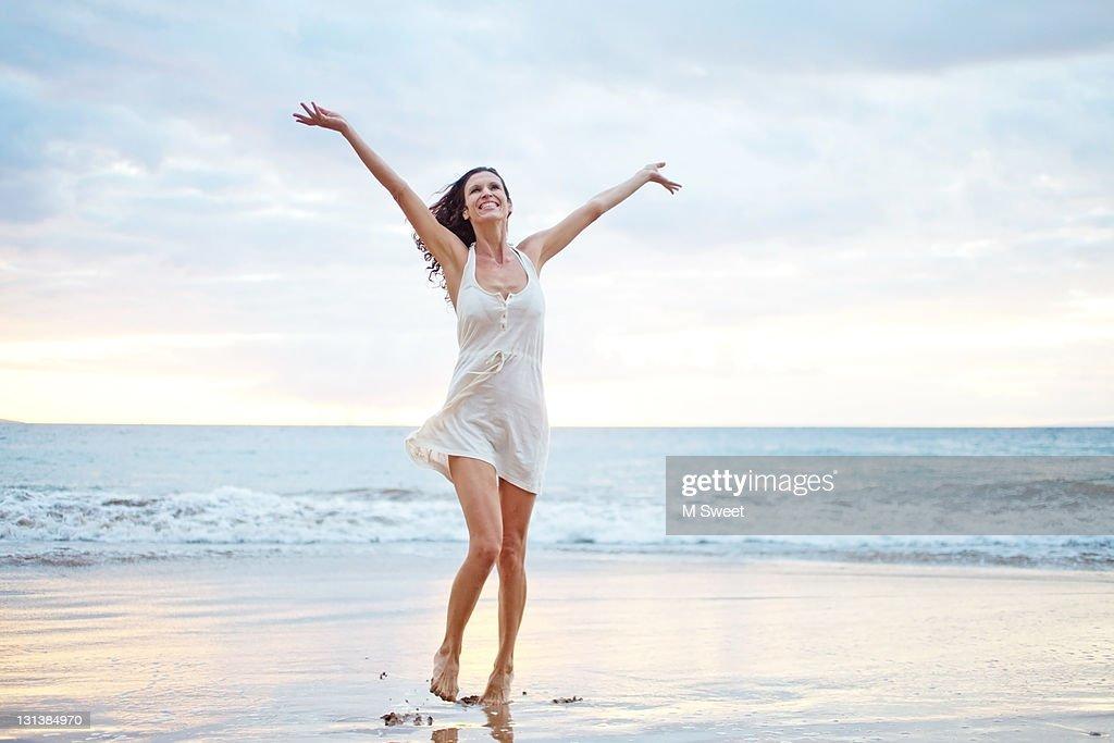 Dancer beach : Stock Photo