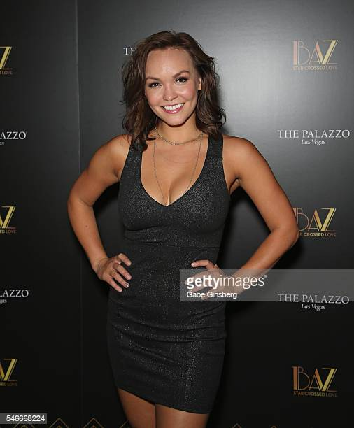 Dancer Brittany Cherry attends the opening celebration of 'BAZ Star Crossed Love' at The Palazzo Las Vegas on July 12 2016 in Las Vegas Nevada