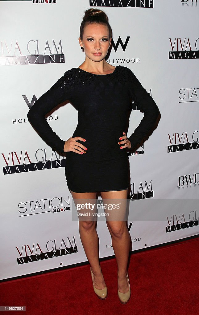 Dancer Caitlin Conlon attends the Viva Glam Magazine September Issue launch party at Station Hollywood on July 31, 2012 in Hollywood, California.