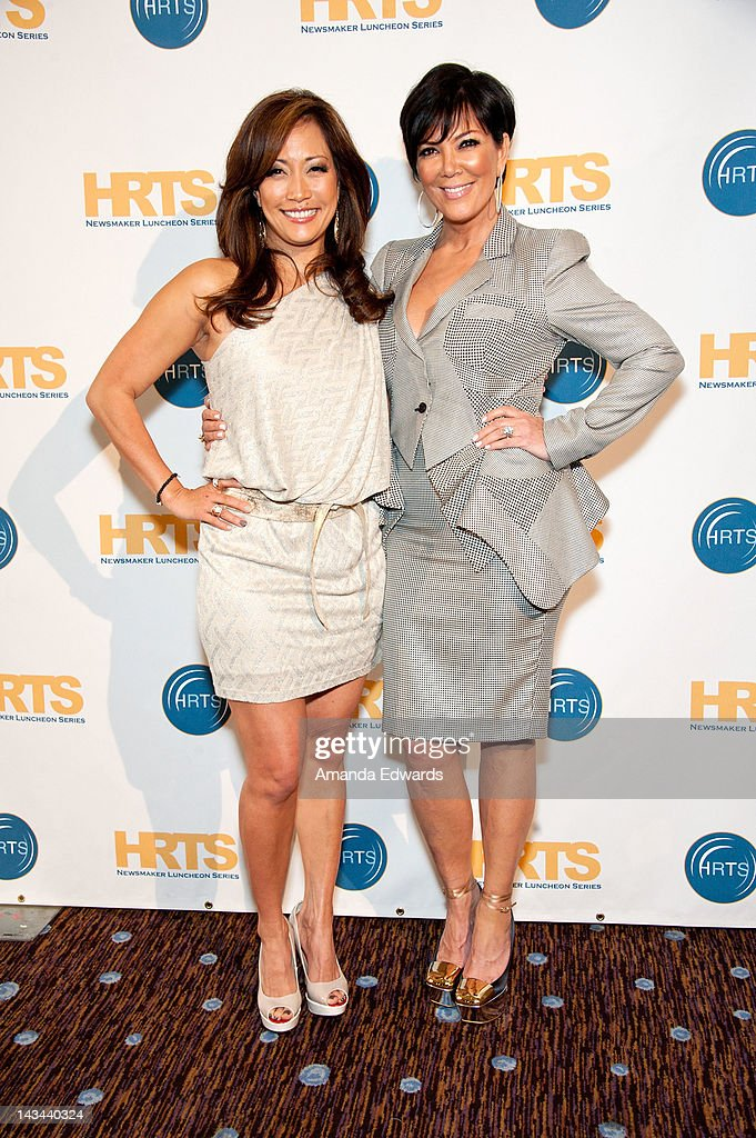 Dancer Carrie Ann Inaba and television personality Kris Jenner arrive at The Hollywood Radio Television Society Presents 'The Unscripted Hitmakers'...