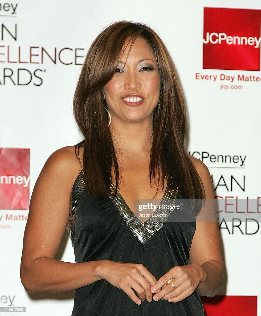 Dancer Carrie Ann Inaba attends the 2008 JCPenney Asian Excellence Awards Nominations Press Conference at the Sofitel Hotel on March 26 2008 in Los...