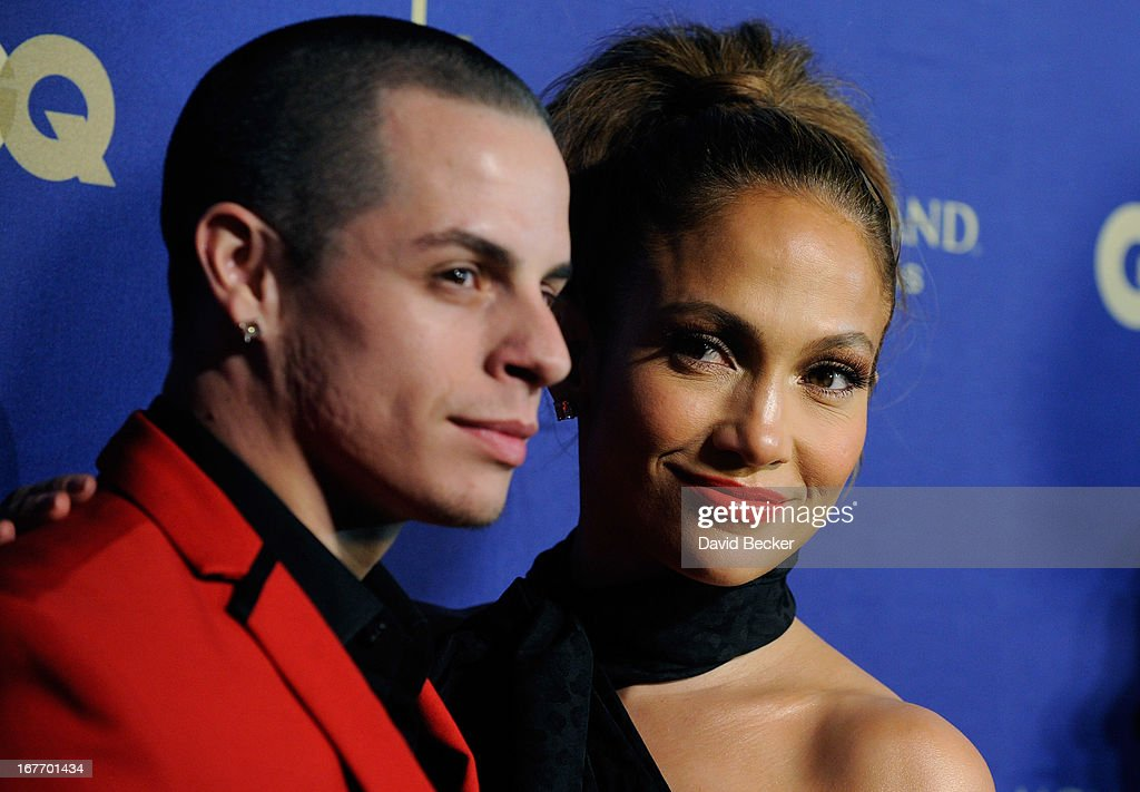 Dancer Casper Smart (L) and singer/actress Jennifer Lopez arrive at the grand opening of Hakkasan Las Vegas Restaurant and Nightclub at the MGM Grand Hotel/Casino on April 27, 2013 in Las Vegas, Nevada.