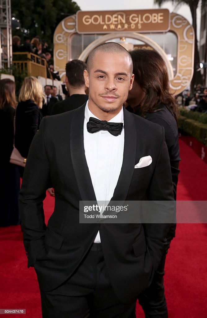 Dancer Casper Smart attends the 73rd Annual Golden Globe Awards at The Beverly Hilton Hotel on January 10, 2016 in Beverly Hills, California.