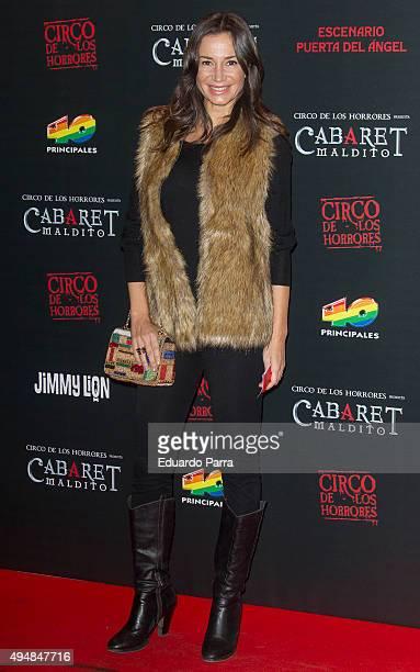 Dancer Cecilia Gomez attends 'Cabaret maldito circo de los horrores' premiere at Carpa Puerta del Angel on October 29 2015 in Madrid Spain