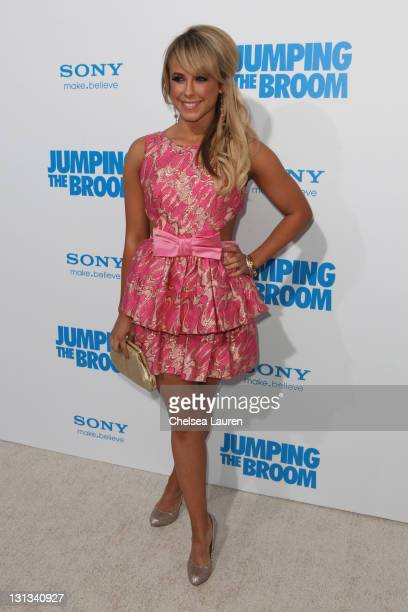 Dancer Chelsie Hightower arrives at the Los Angeles premiere of 'Jumping The Broom' at ArcLight Cinemas Cinerama Dome on May 4 2011 in Hollywood...