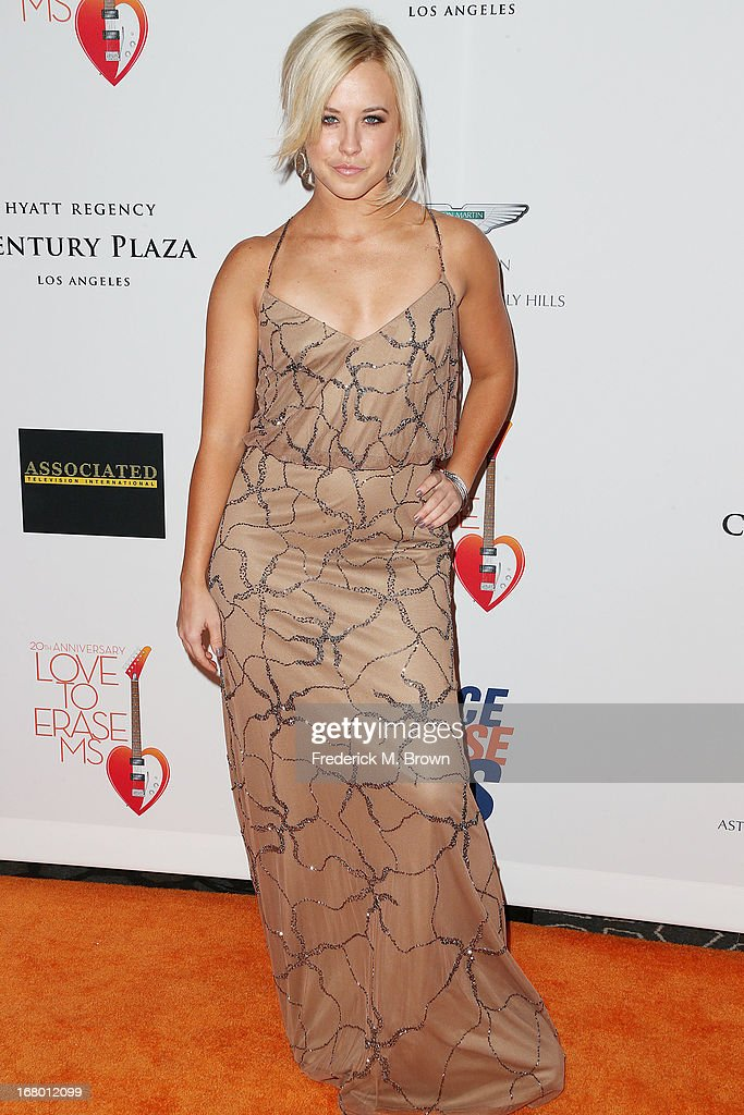 Dancer Chelsie Hightower attends the 20th Annual Race to Erase MS Gala 'Love to Erase MS' at the Hyatt Regency Century Plaza on May 3, 2013 in Century City, California.