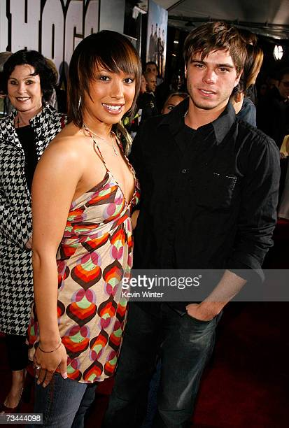 Dancer Cheryl Burke and actor Matthew Lawrence arrive at the premiere of 'Wild Hogs' at the El Capitan Theater on February 27 2007 in Hollywood...
