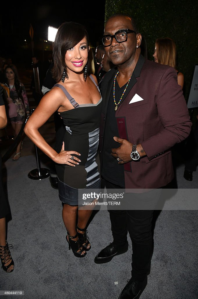 Dancer <a gi-track='captionPersonalityLinkClicked' href=/galleries/search?phrase=Cheryl+Burke&family=editorial&specificpeople=540289 ng-click='$event.stopPropagation()'>Cheryl Burke</a> (L) and TV personality Randy Jackson attend Maxim's Hot 100 Women of 2014 celebration and sneak peek of the future of Maxim at Pacific Design Center on June 10, 2014 in West Hollywood, California.
