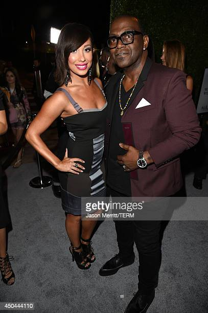 Dancer Cheryl Burke and TV personality Randy Jackson attend Maxim's Hot 100 Women of 2014 celebration and sneak peek of the future of Maxim at...