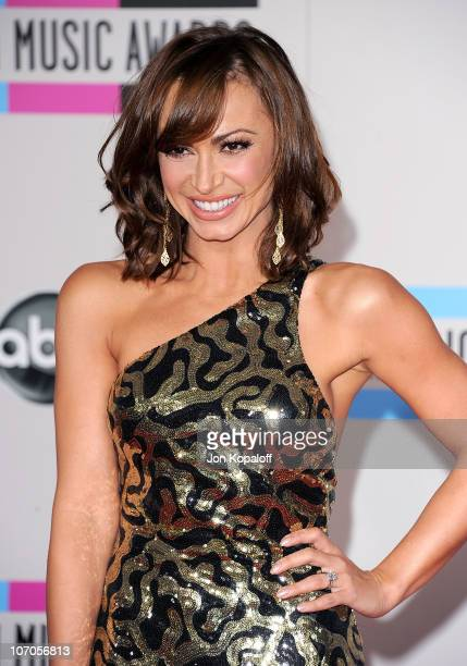 Dancer Cheryl Burke arrives at the 2010 American Music Awards held at Nokia Theatre LA Live on November 21 2010 in Los Angeles California