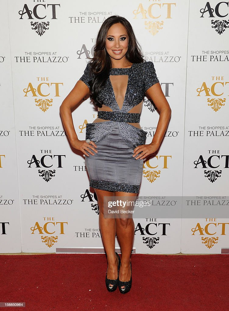 Dancer Cheryl Burke arrives at the New Year's Eve celebration at The Act at The Palazzo on December 31, 2012 in Las Vegas, Nevada.