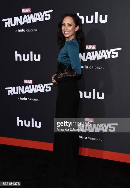 Dancer Cheryl Burke arrives at the premiere of Hulu's 'Marvel's Runaways' at the Regency Bruin Theatre on November 16 2017 in Los Angeles California