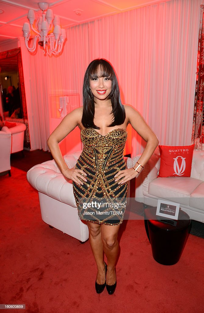 Dancer Cheryl Burke attends Quattro Volte Vodka Preview with Taio Cruz at SLS Hotel on February 7, 2013 in Beverly Hills, California.
