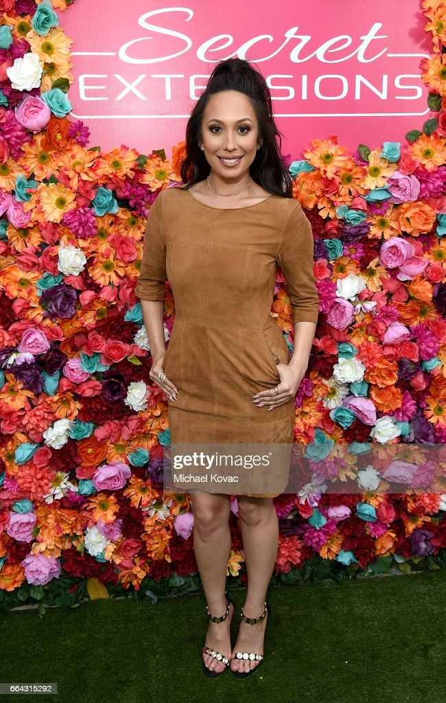 Dancer Cheryl Burke attends the Secret Extensions Salon Edition Double Volume Launch at Blushington on April 3, 2017 in Los Angeles, California.