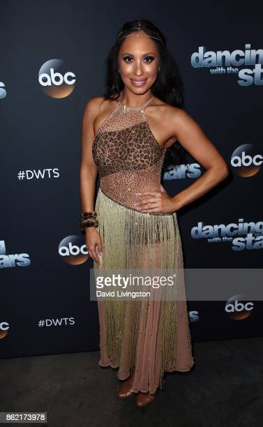 Dancer Cheryl Burke poses at 'Dancing with the Stars' season 25 at CBS Televison City on October 16 2017 in Los Angeles California