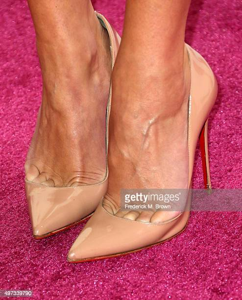 Dancer Cheryl Burke shoe detail attends VH1 Big in 2015 With Entertainment Weekly Awards at Pacific Design Center on November 15 2015 in West...