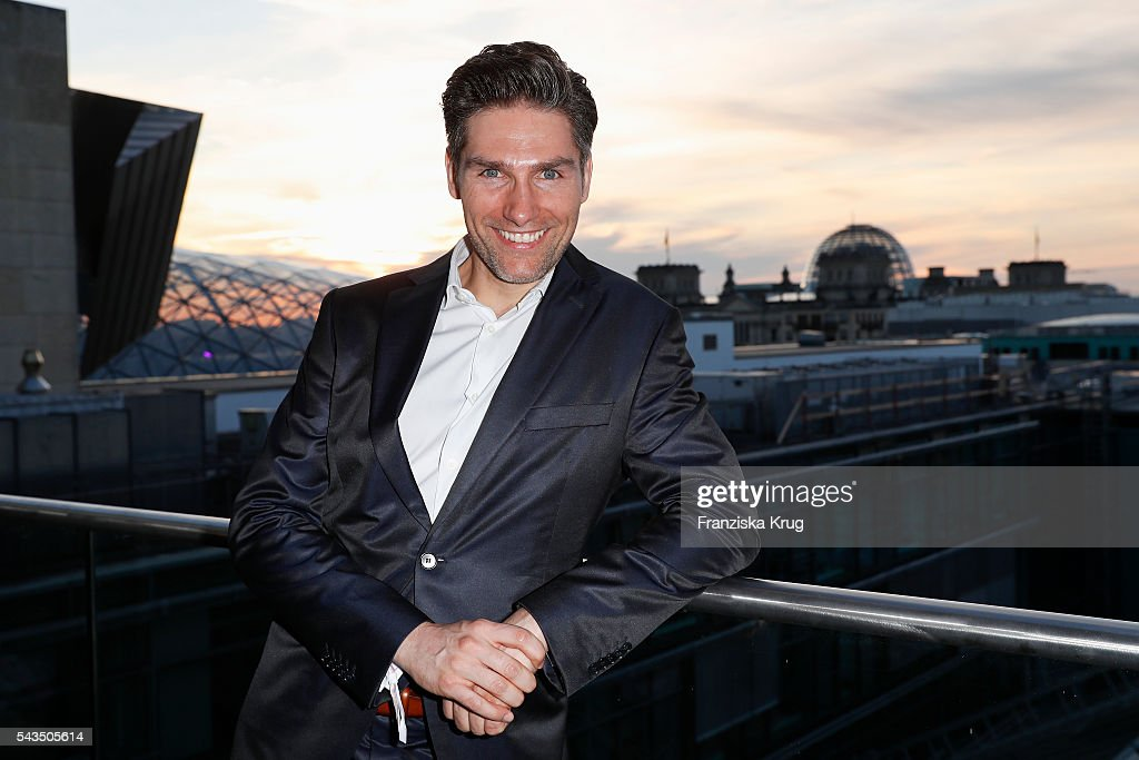 Dancer Christian Polanc attends the Marc Cain fashion show spring/summer 2017 at CITY CUBE Panorama Bar on June 28, 2016 in Berlin, Germany.