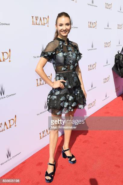 Dancer Christine Shevchenko attends the Weinstein Company's 'LEAP' at The Grove on August 19 2017 in Los Angeles California