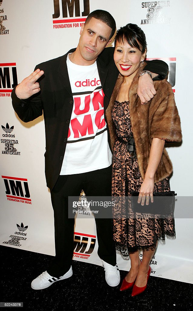 Dancer Crazy Legs and date attend the 35th anniversary of the Adidas superstar sneaker honoring the life of Jam Master Jay on February 25, 2005 in New York City.