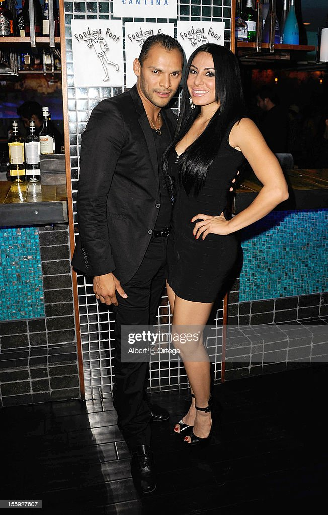 Dancer Cristian Oviedo and singer Amira Minassian participate in Food On Foot's 'Hot Latin Nights' held at Casa Azul Cantina on November 8, 2012 in Los Angeles, California.