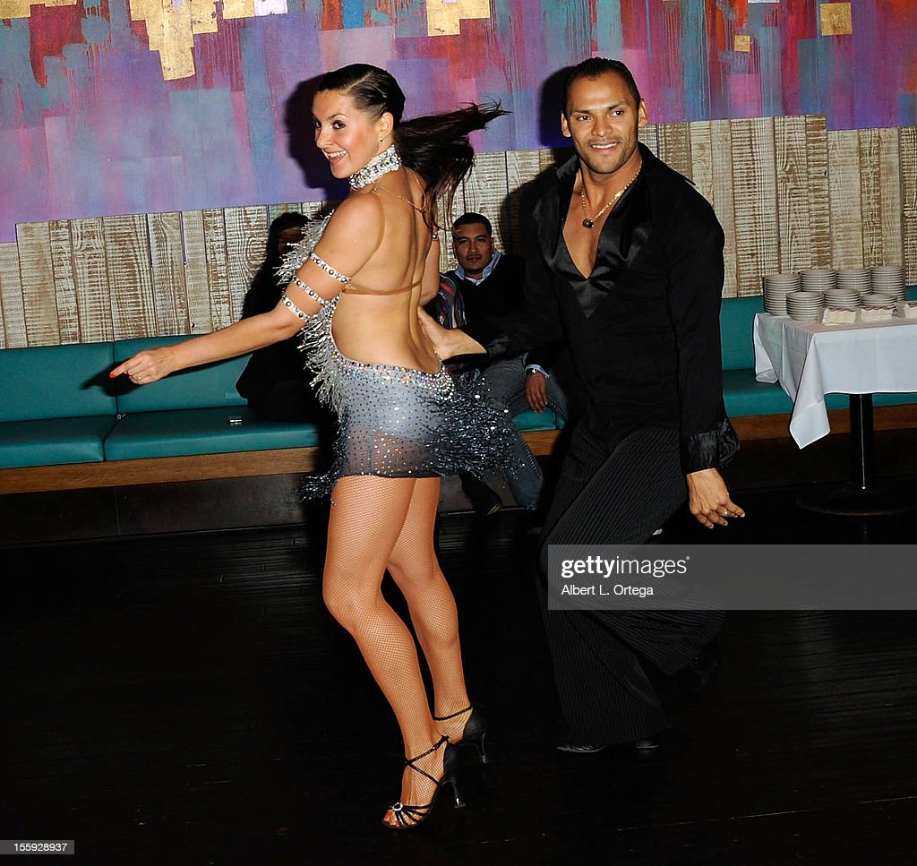 Dancer Cristian Oviedo participates in Food On Foot's 'Hot Latin Nights' held at Casa Azul Cantina on November 8, 2012 in Los Angeles, California.