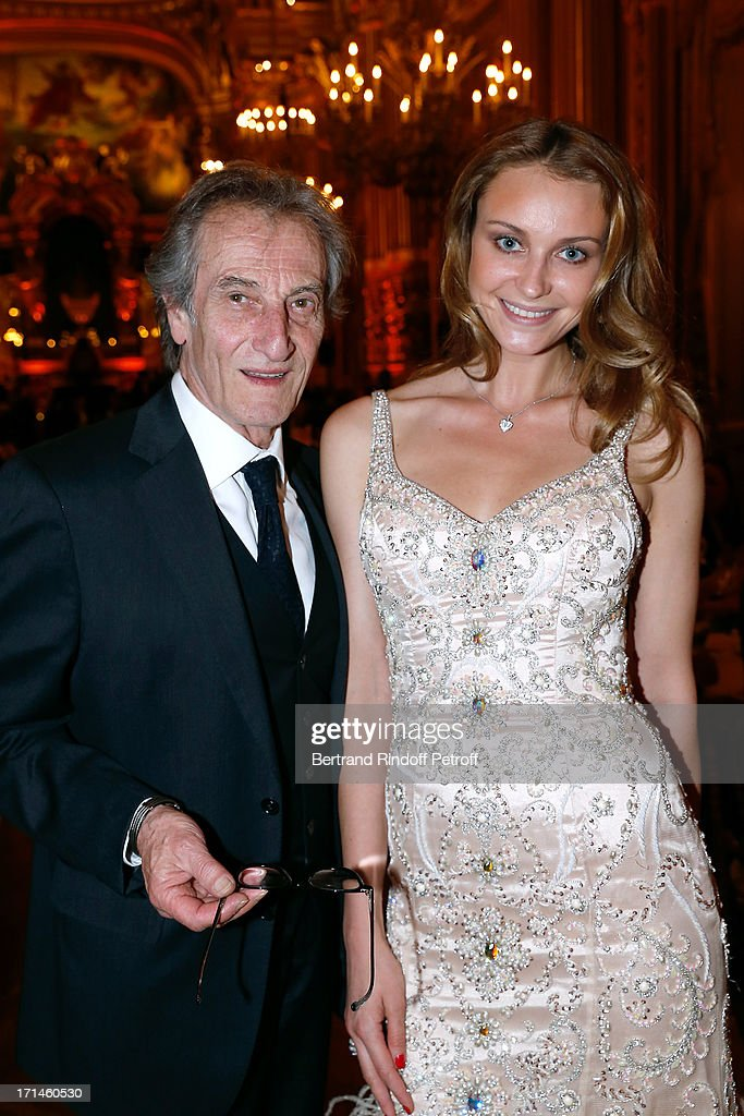 Dancer Cyril Atanassoff and Olga Elnikova attend Gala of AROP at Opera Garnier with representation of 'La Sylphide' on June 24, 2013 in Paris, France.