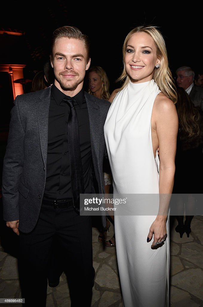 Dancer Derek Hough and host committee member Kate Hudson attend Goldie Hawn's inaugural 'Love In For Kids' benefiting the Hawn Foundation's MindUp...