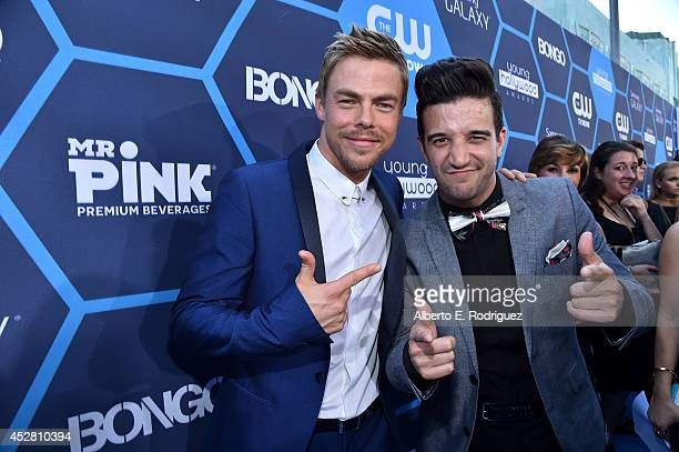 Dancer Derek Hough and singer Mark Ballas attends the 2014 Young Hollywood Awards brought to you by Samsung Galaxy at The Wiltern on July 27 2014 in...