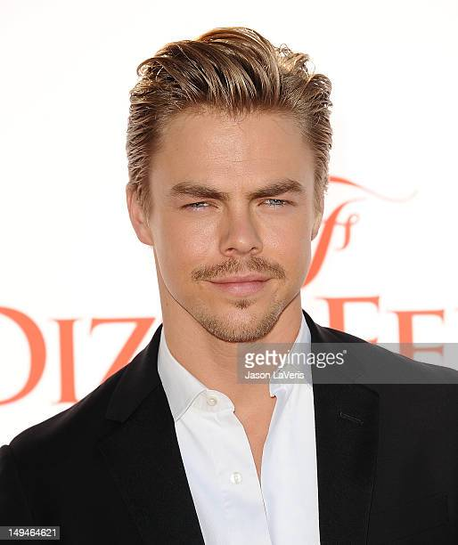 Dancer Derek Hough attends Dizzy Feet Foundation's celebration of dance at Dorothy Chandler Pavilion on July 28 2012 in Los Angeles California