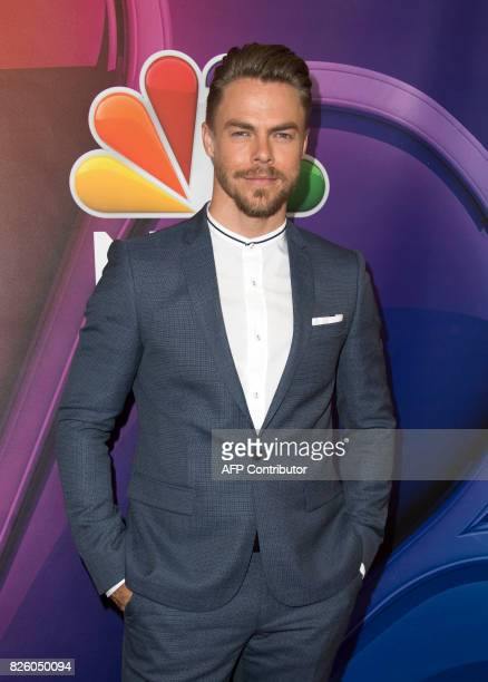 Dancer Derek Hough attends NBC TCA Summer Press Tour 2017 on August 3 in Beverly Hills California / AFP PHOTO / VALERIE MACON