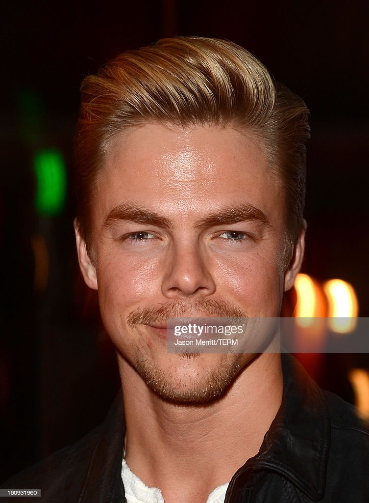 Dancer <a gi-track='captionPersonalityLinkClicked' href=/galleries/search?phrase=Derek+Hough&family=editorial&specificpeople=4532214 ng-click='$event.stopPropagation()'>Derek Hough</a> attends Quattro Volte Vodka Preview with Taio Cruz at SLS Hotel on February 7, 2013 in Beverly Hills, California.