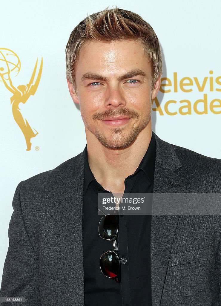 Dancer Derek Hough attends the Television Academy's Directors Peer Group Celebrates the 66th Emmy Awards Outstanding Choreography Nominees at the...