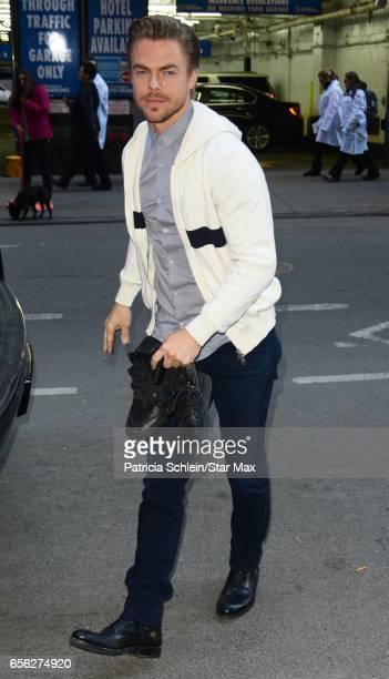 Dancer Derek Hough is seen on March 21 2017 in New York City