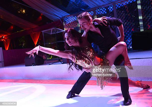 Dancer Derek Hough performs at Goldie Hawn's inaugural 'Love In For Kids' benefiting the Hawn Foundation's MindUp program transforming children's...