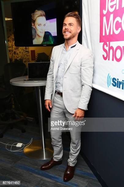 Dancer Derek Hough visits 'The Jenny McCarthy Show' at the SiriusXM Studios on August 8 2017 in New York City