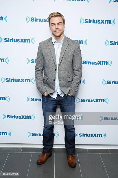 Dancer Derek Hough visits the SiriusXM Studios on March 2 2015 in New York City