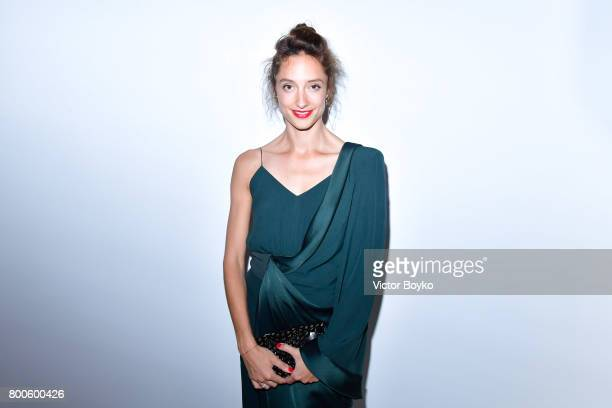 Dancer Dorothee Gilbert attends the Balmain Menswear Spring/Summer 2018 show as part of Paris Fashion Week on June 24 2017 in Paris France