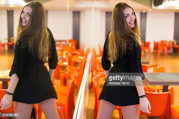 Dancer Ekaterina Leonova poses at a photo call for the television competition 'Let's Dance' on March 2 2016 in Cologne Germany On March 11th the show...