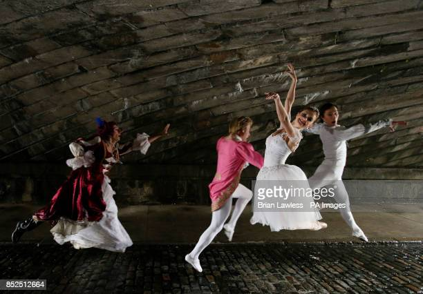 Dancer Ekateryna Floria of the Royal Moscow Ballet who plays Cinderalla with fellow cast members Stepmother Oleksiy Burakov Dance Teacher Anatoly...