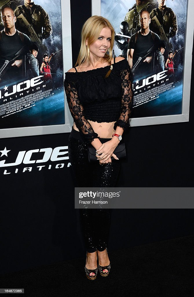 Dancer Elena Samadanova arrives at the Premiere of Paramount Pictures' 'G.I. Joe: Retaliation' at TCL Chinese Theatre on March 28, 2013 in Hollywood, California.