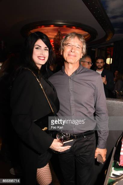 Dancer Elsa Oesinger and her father attend the 'Apero Gouter' Cocktail Hosted by Le Grand Seigneur Magazine at Bistrot Marguerite on September 28...