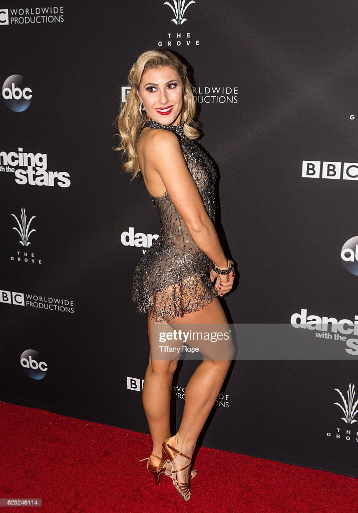 Dancer Emma Slater attends the 'Dancing With The Stars' live finale at The Grove on November 22, 2016 in Los Angeles, California.