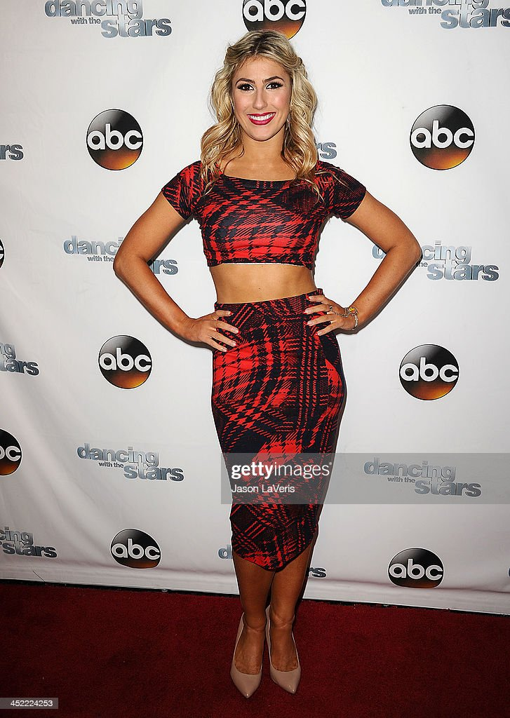 Dancer <a gi-track='captionPersonalityLinkClicked' href=/galleries/search?phrase=Emma+Slater&family=editorial&specificpeople=9080766 ng-click='$event.stopPropagation()'>Emma Slater</a> attends the 'Dancing With The Stars' wrap party at Sofitel Hotel on November 26, 2013 in Los Angeles, California.